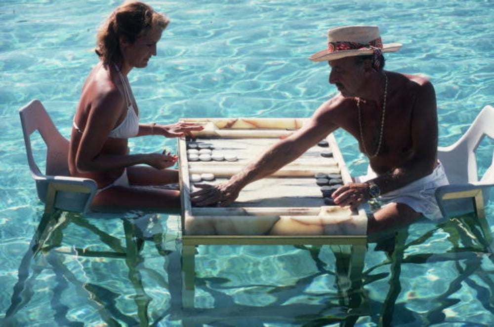 slim aarons poolside. 3