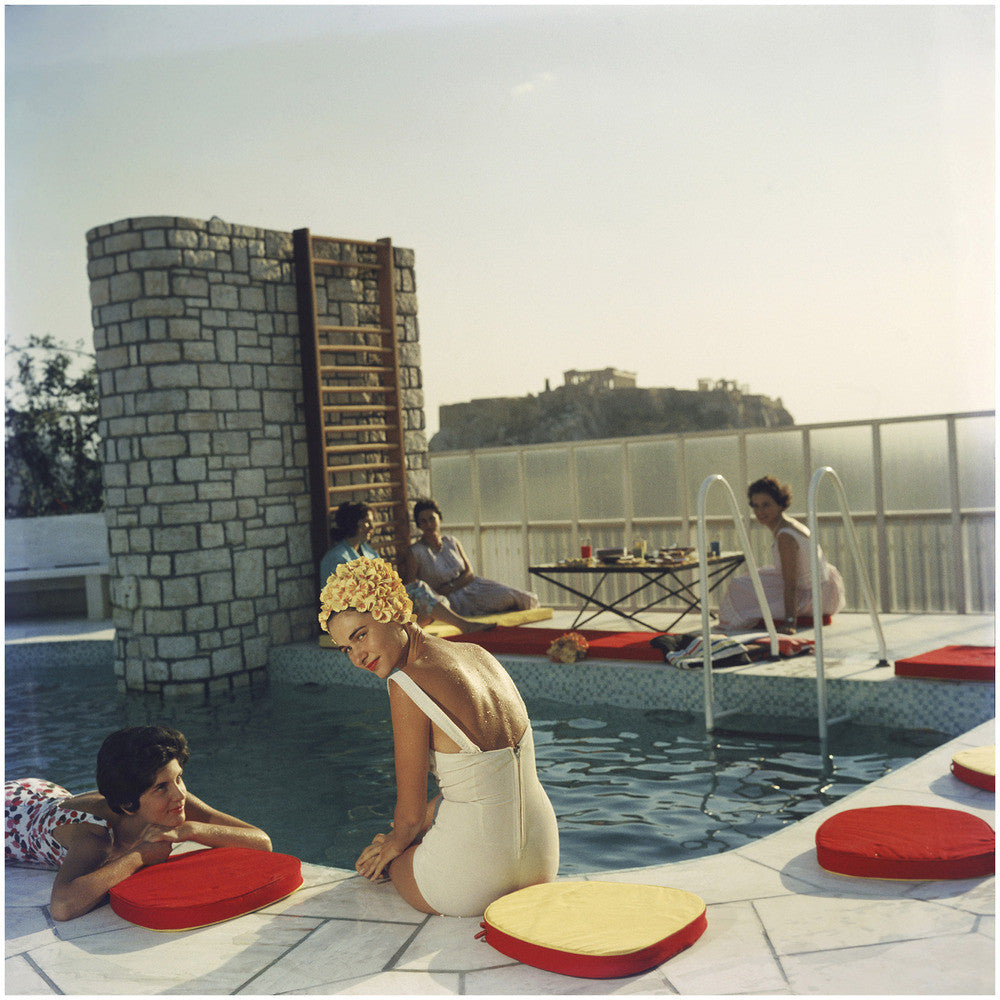 slim aarons poolside. 2