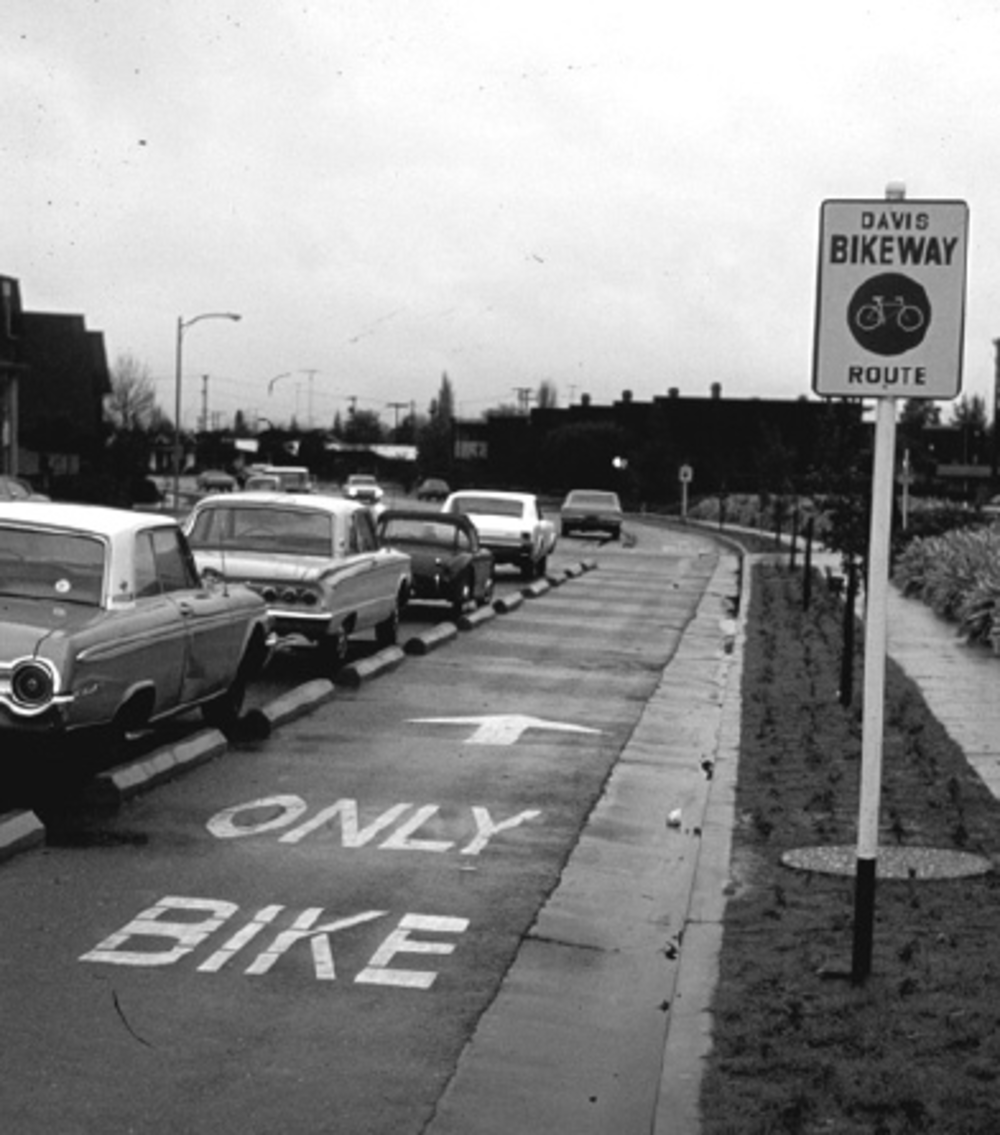 the first bike lanes. 1