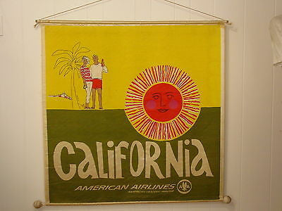 vintage-1960s-california-american-airlines-poster-satin-travel-banner-945ed757790788e2c0576c9bfda58231