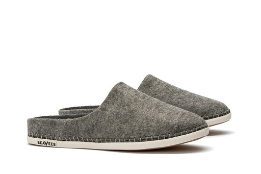 Mens - Stag Slipper Scuff - Heather Grey