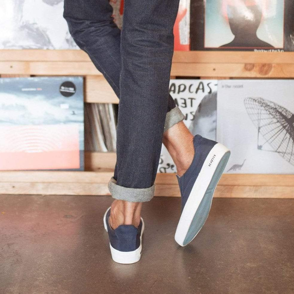mens hawthorne slip on sneaker navy