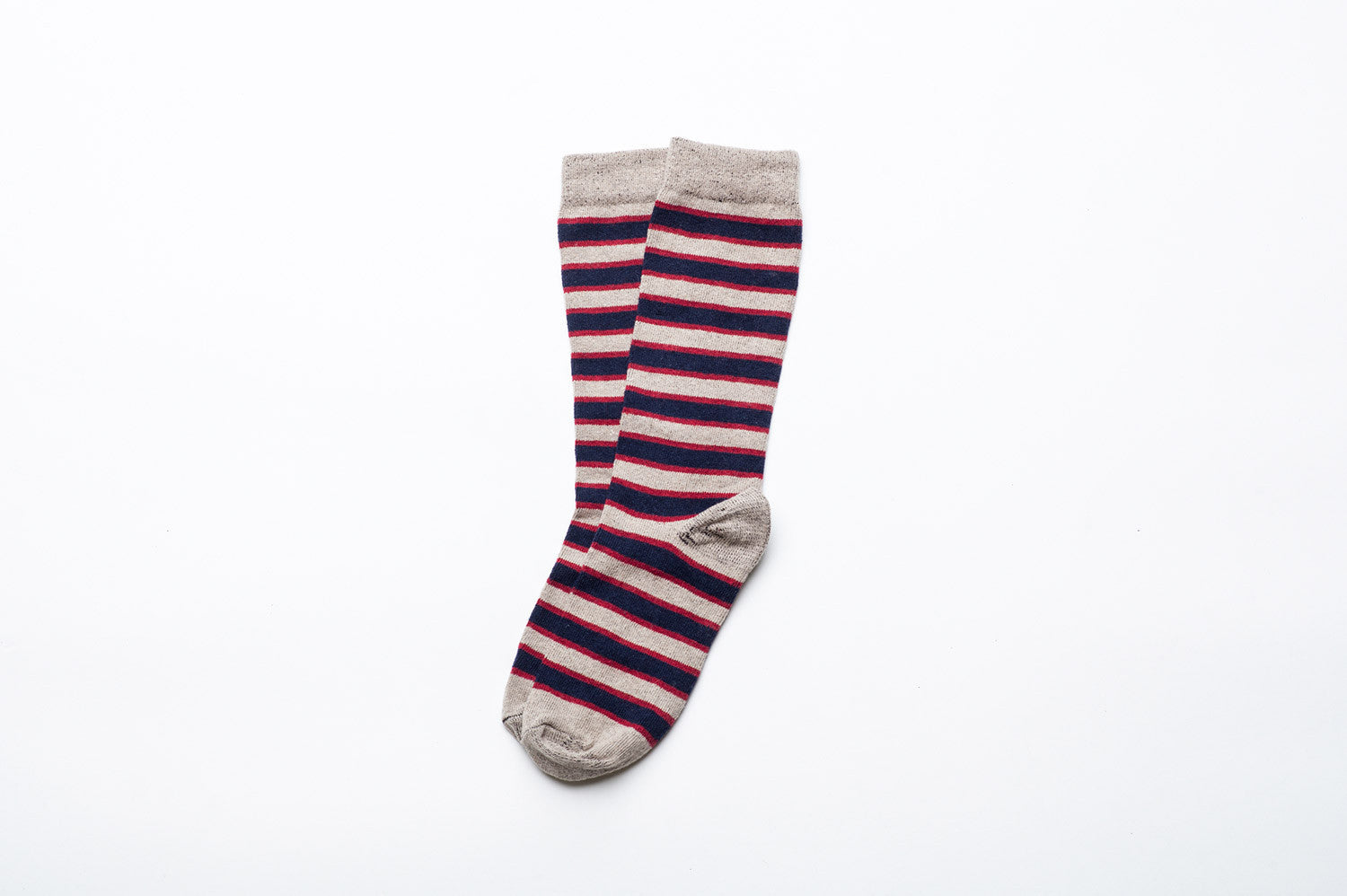 Triple Stripe Socks - Sand