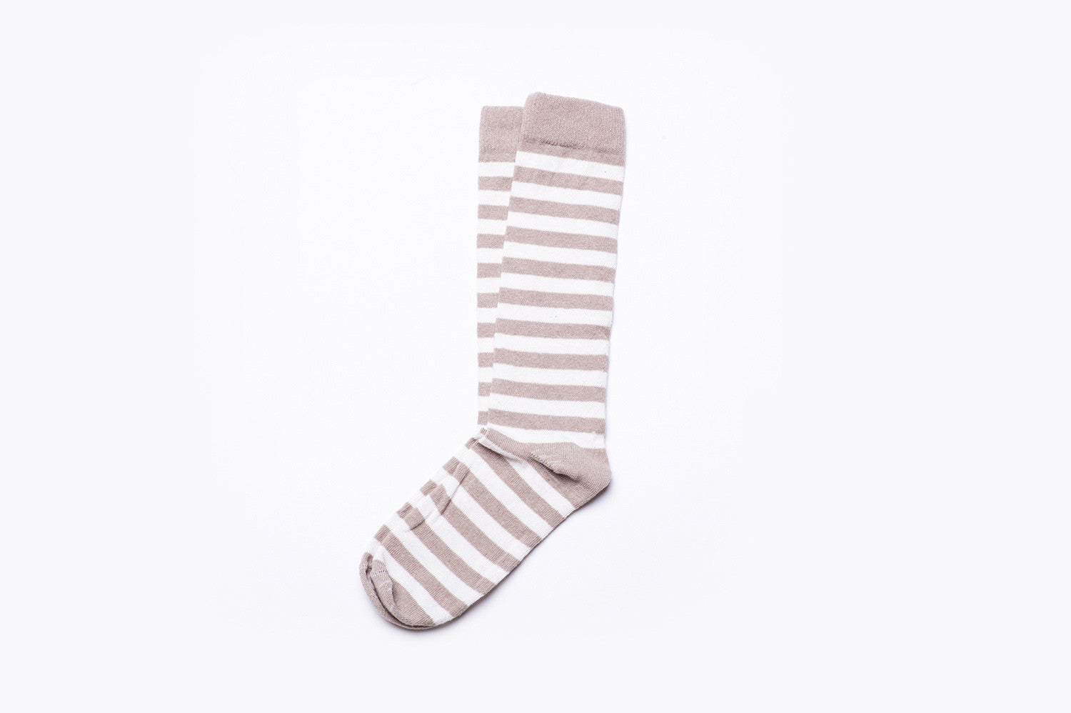 Rugby Stripe Socks - Sand/White