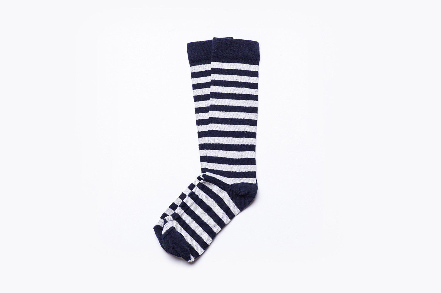 Rugby Stripe Socks - Dark Navy/Cloud
