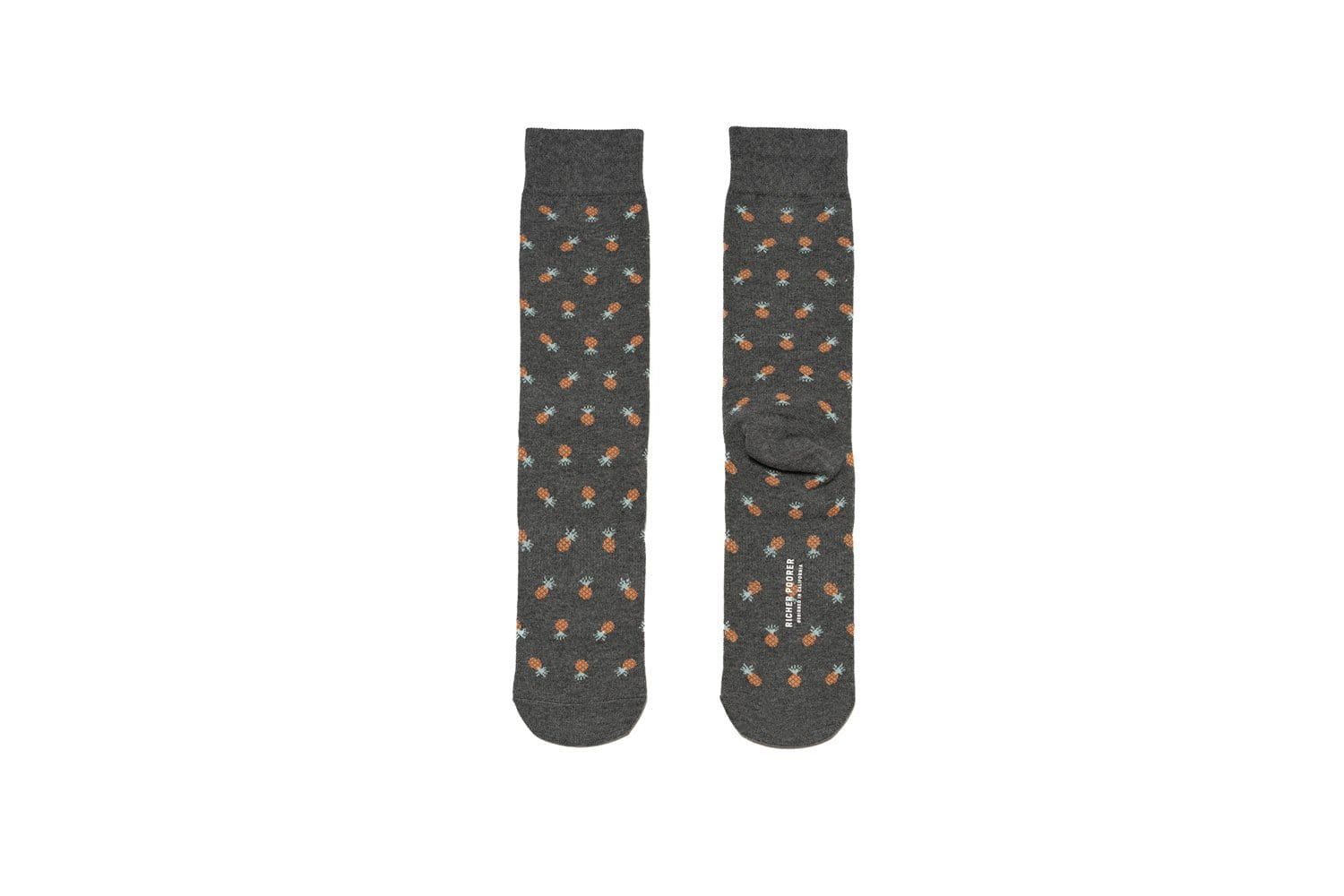 Mens Crew Socks - Pineapple Charcoal