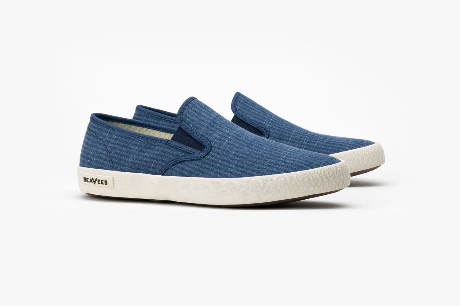 Mens - Baja Slip On Seersucker - Indigo
