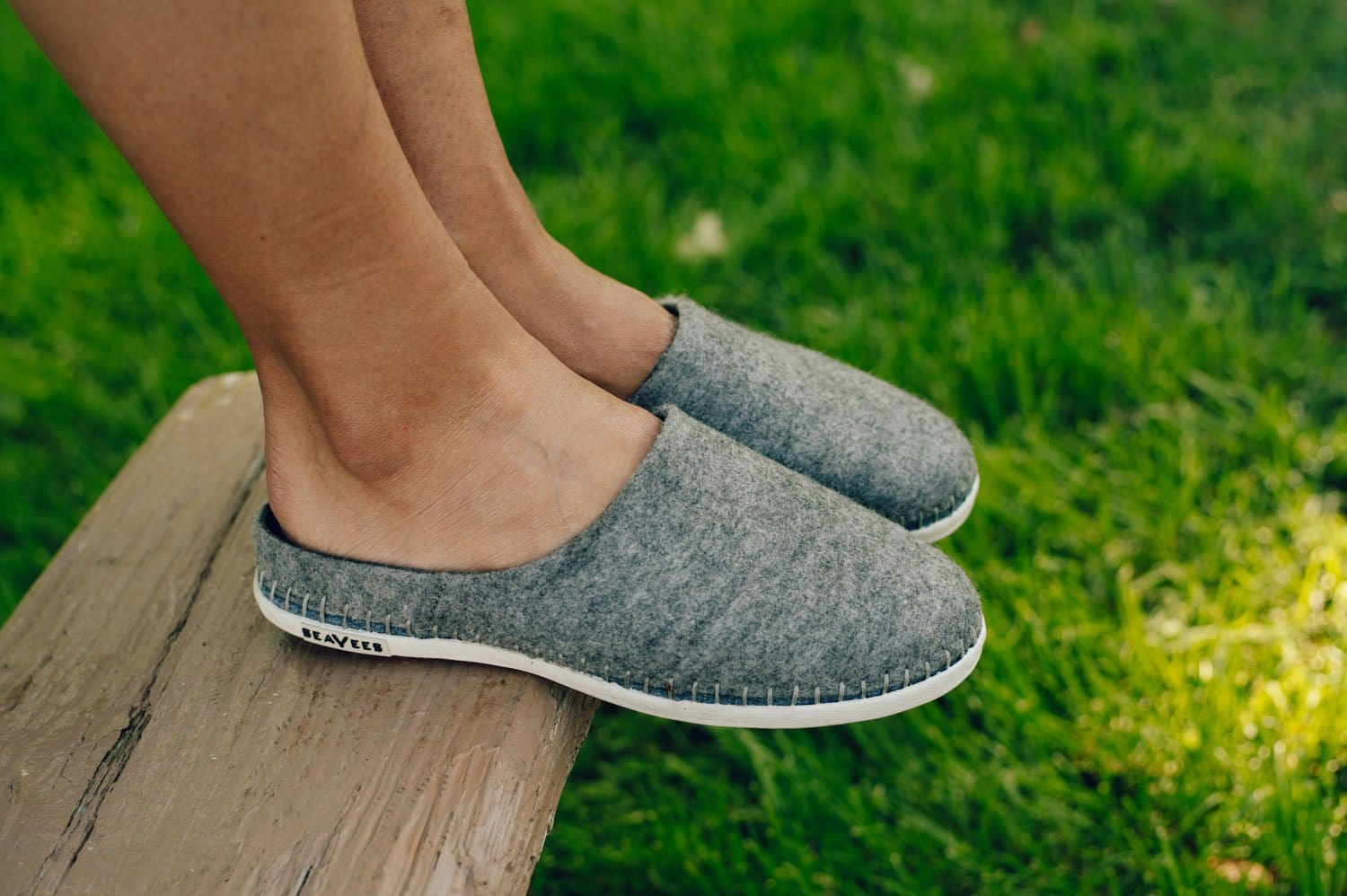Womens - Stag Slipper Scuff Heather Grey