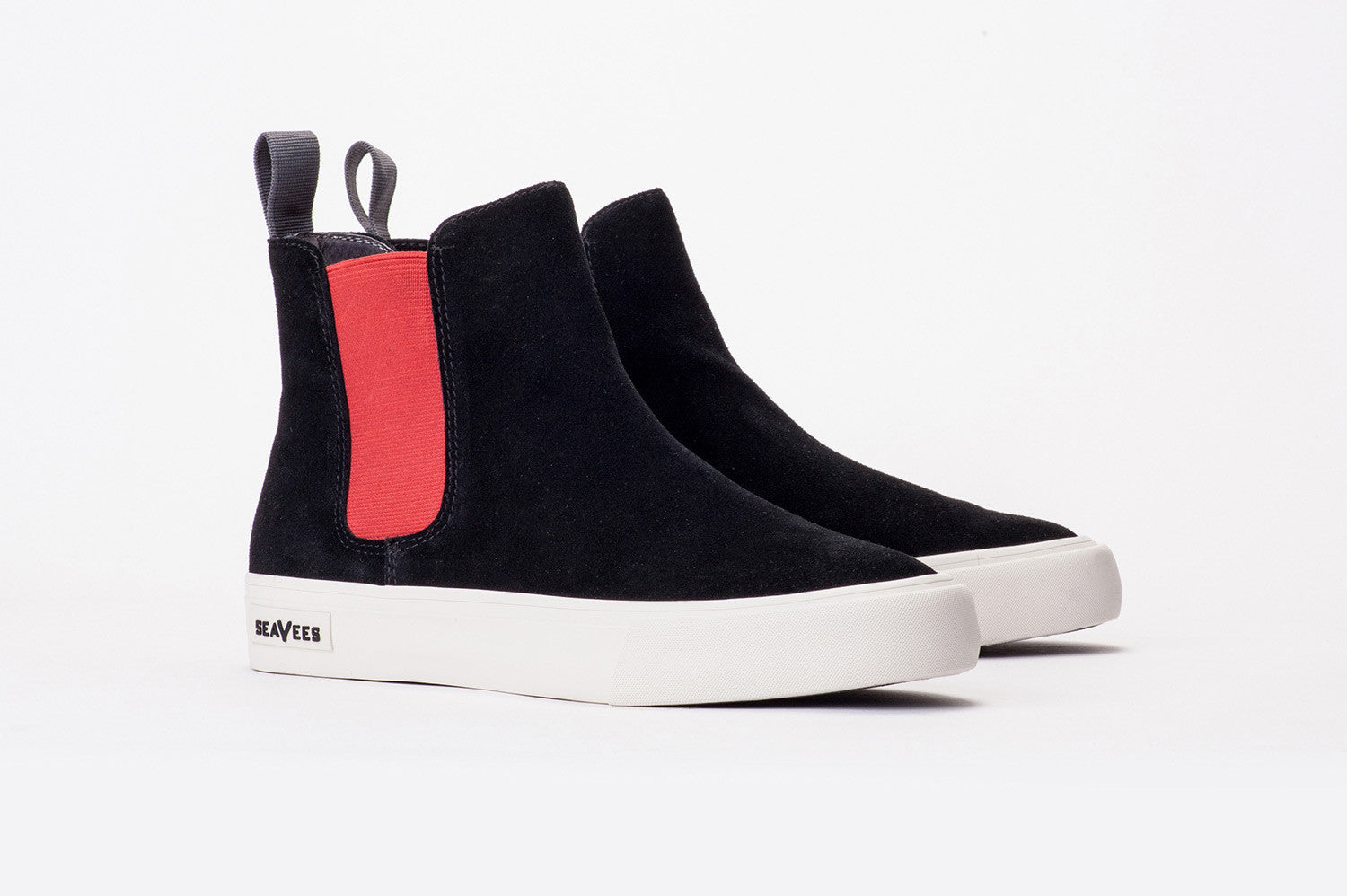 Womens - Laguna Chelsea Boot - Black/Red