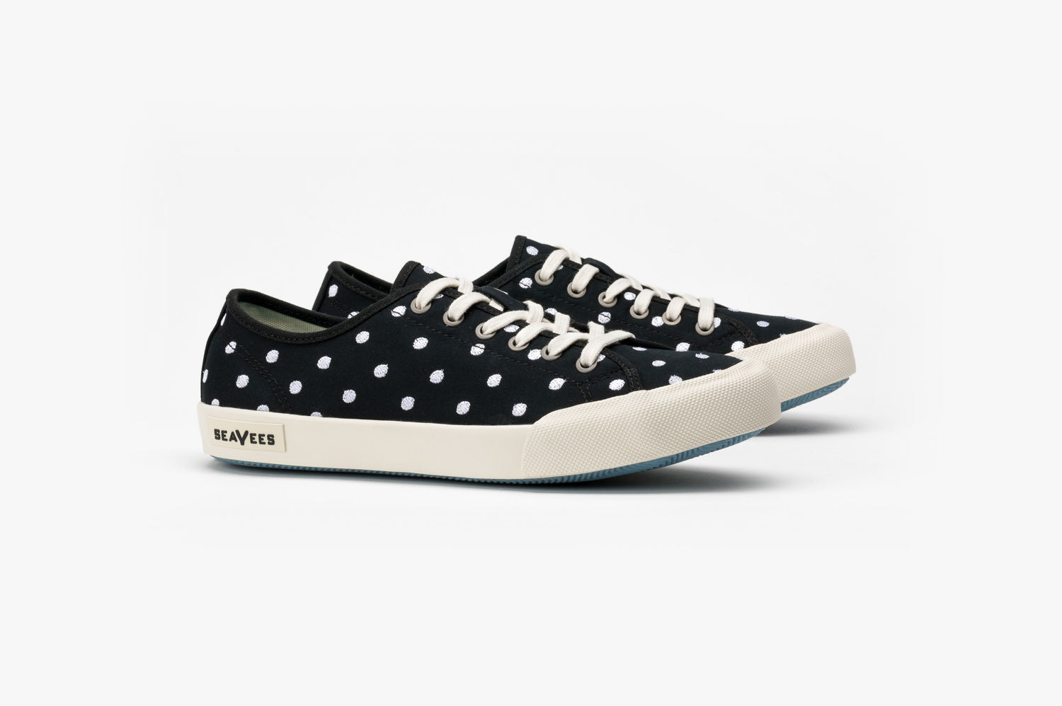 Womens - Monterey Sneaker Embroidery - Black Dot