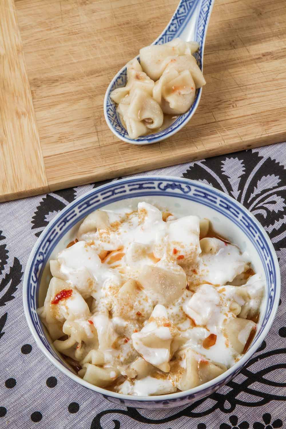 Sanal Manti Turkish Dumplings with Yogurt Sauce