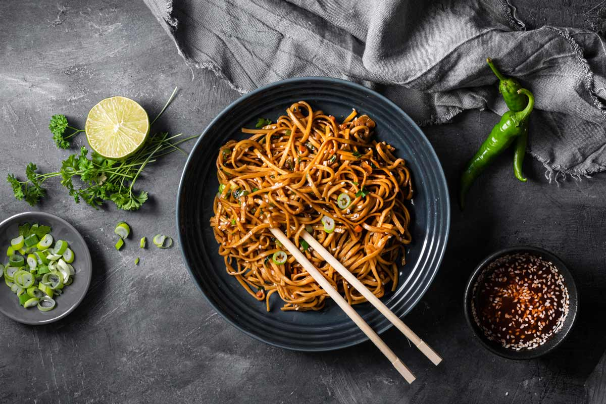 Stir Fried Vegetable Yakiudon Noodles