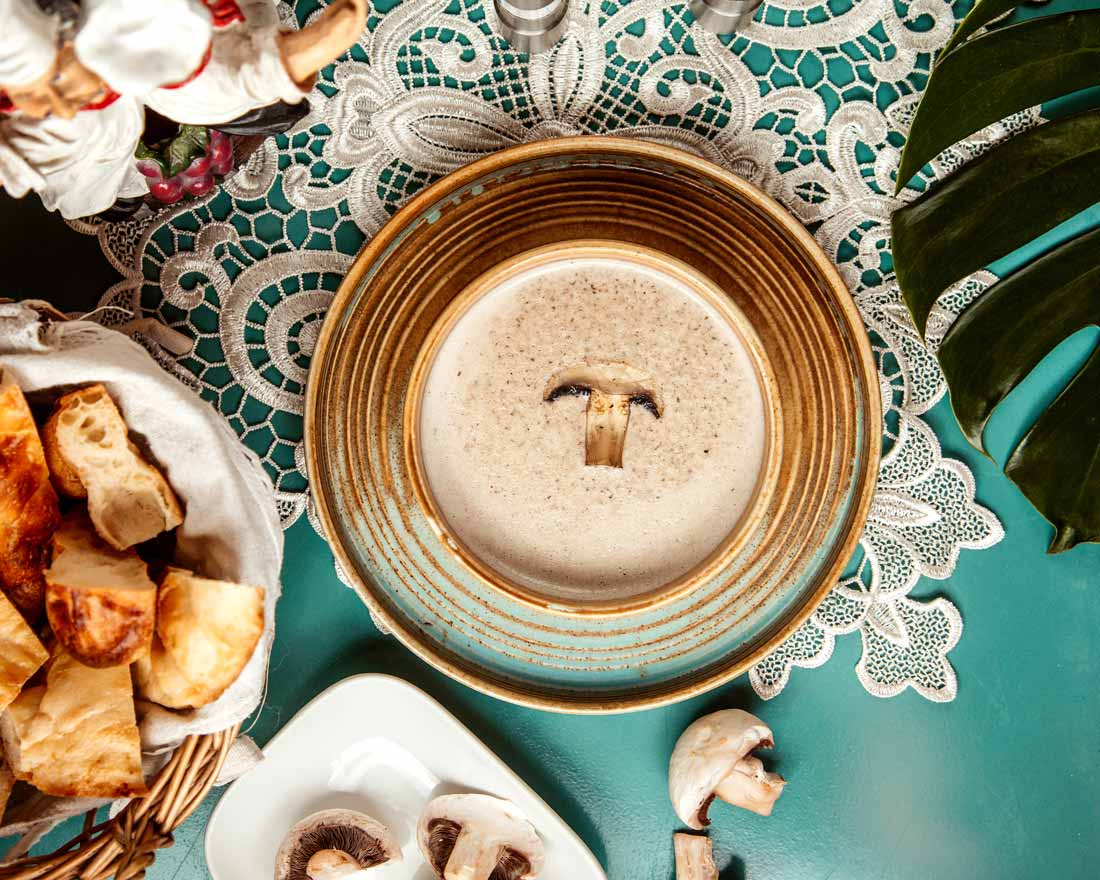 French Chestnut and Mushroom Soup