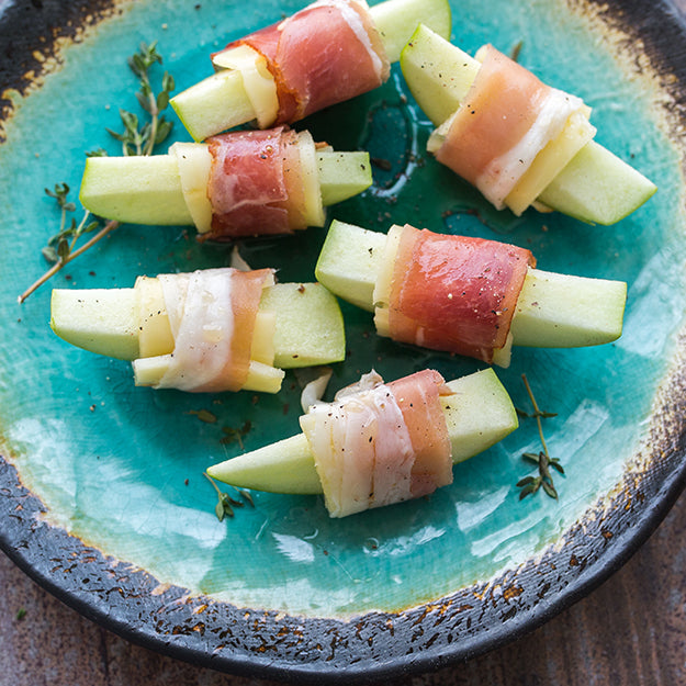 Apple, Swiss & Prosciutto Rollups with Nature Nate's Honey