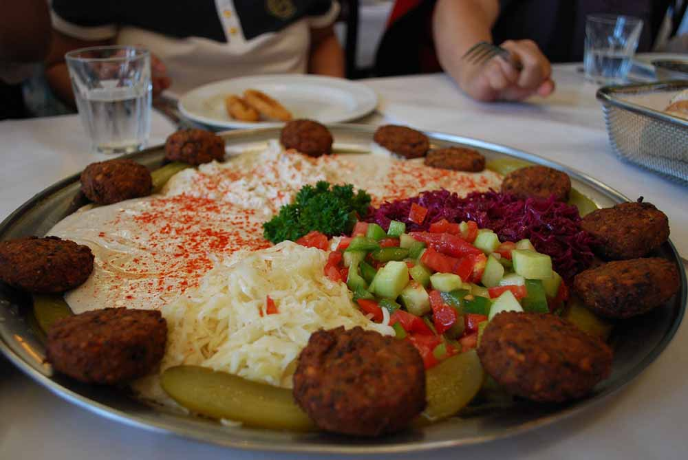 Falafel Plate with Turkish Patlican