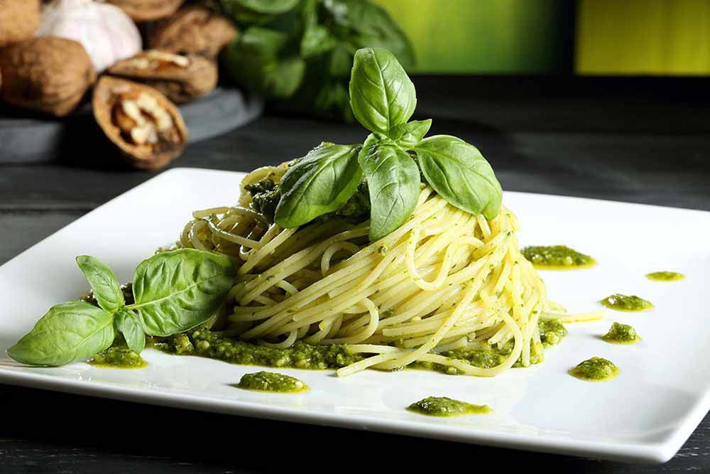 Italian Pasta with Basil Pesto
