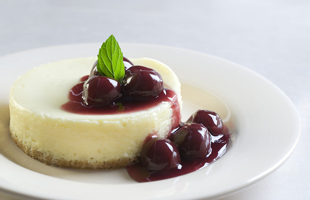 Amarena Cherries with Cheesecake