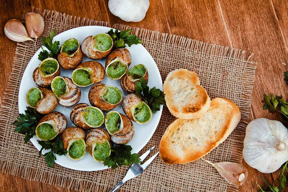 Escargot with Butter Sauce