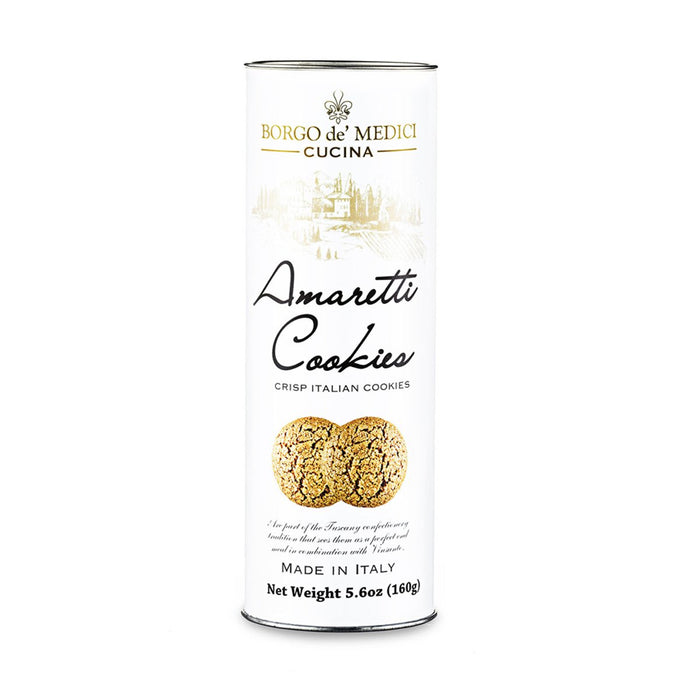 Borgo de Medici Traditional Amaretti Cookies in Tube, 5.6 oz (160 g)