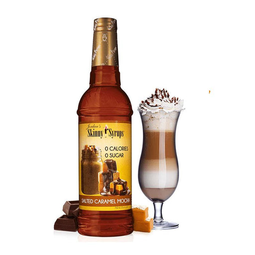 Sugar Free Salted Caramel Mocha Syrup by Jordan's Skinny Mixes, 25.4 fl oz (750 ml)