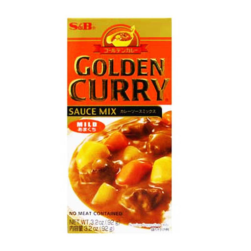 S&B Golden Curry Mild Japanese Curry, 3.2 oz (92 g)