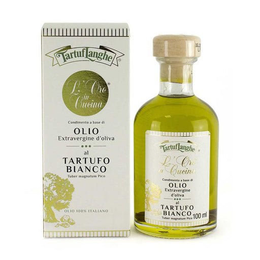Tartuflanghe Extra Virgin Olive Oil with White Truffle, 3.5 oz (100 ml)