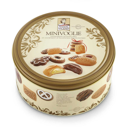 Matilde Vicenzi Cookies & Puff Pastry Assortment Minivoglie in Gift Tin, 12.4 oz (350 g)