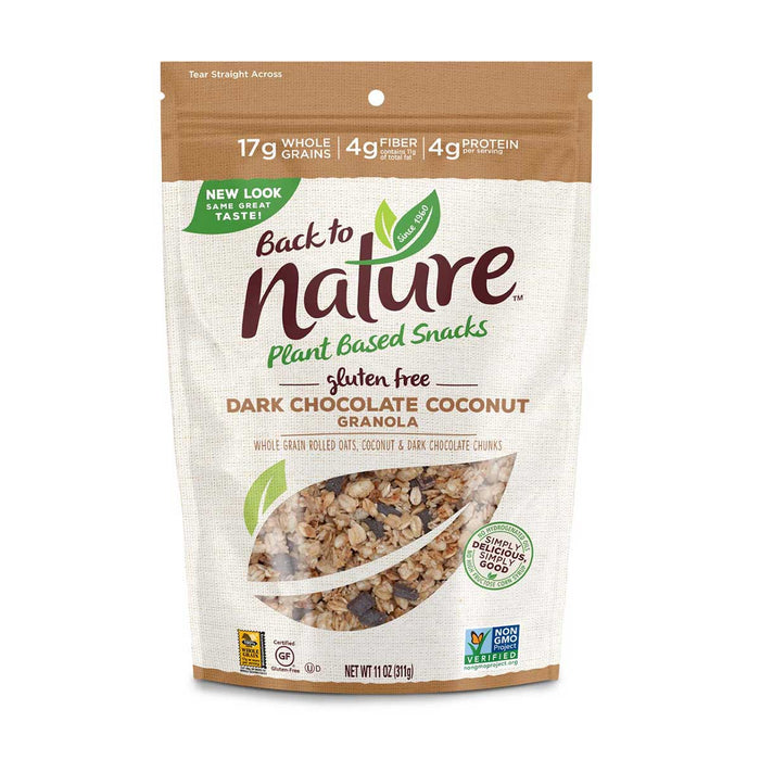 Back to Nature Gluten Free Dark Chocolate Coconut Granola, 11 oz (311 g)