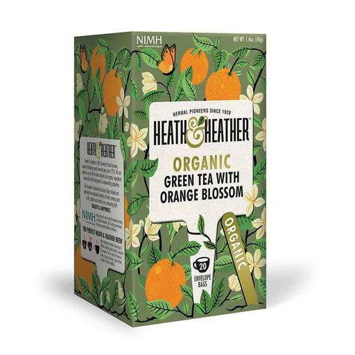 Heath & Heather Organic Green Tea with Orange Blossom 20 Tea Bags, 1.4 oz (40 g)