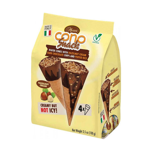 Messori Cono Snacks, Hazelnut, 3.5 oz (100 g)