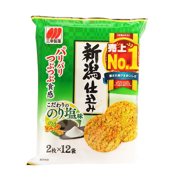 Sanko Japanese Rice Crackers with Seaweed Nori, 4.5 oz (127.5729 90050217)