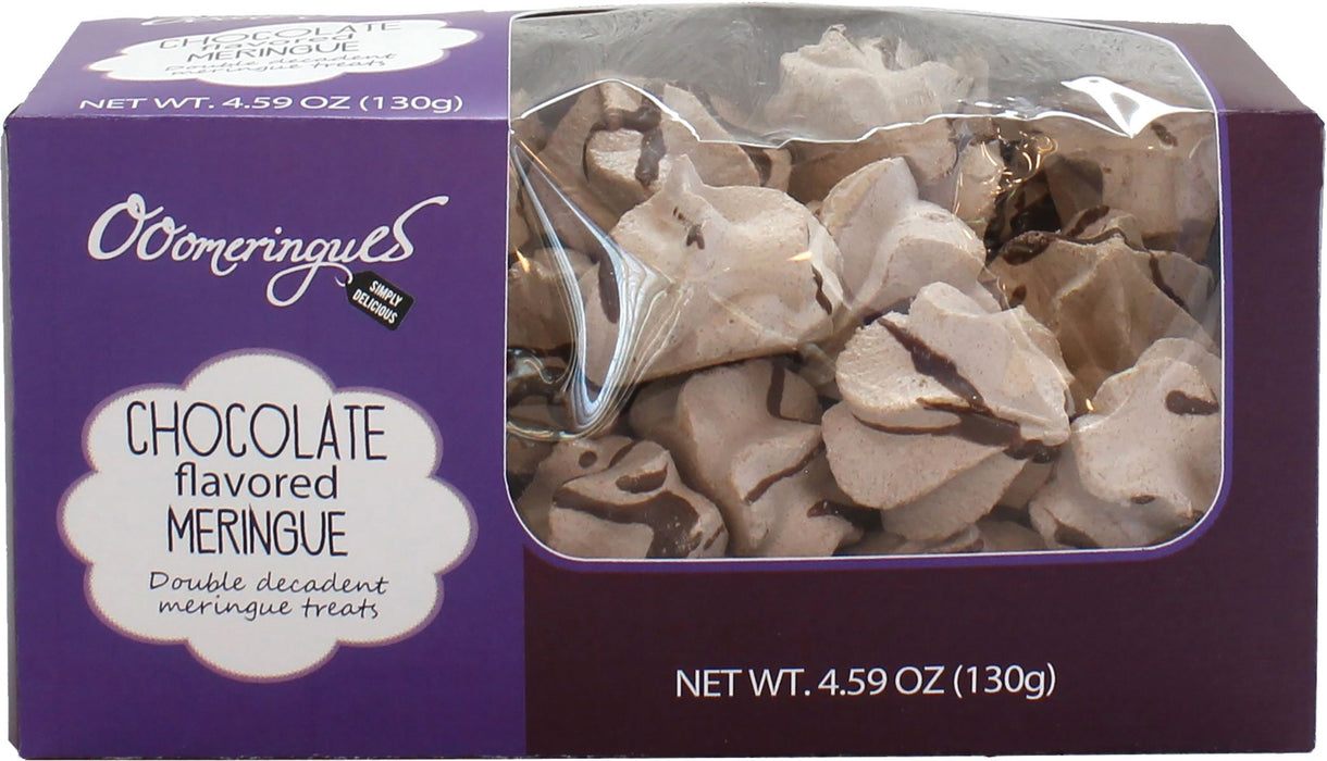 Chocolate Flavored Meringue - Box by OooMeringues, 4.6 oz (130 g)