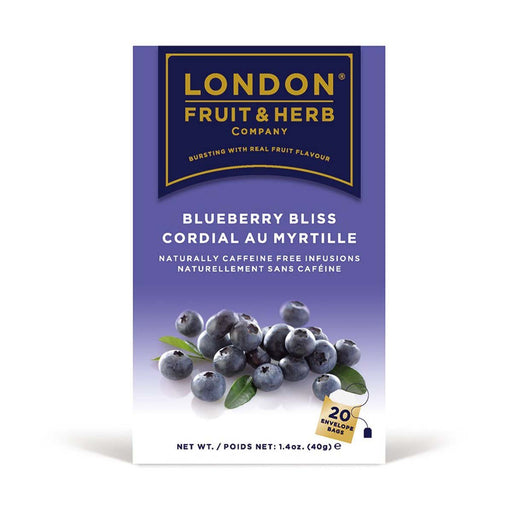 London Fruit & Herb Blueberry Bliss Tea 20 Tea Bags, 1.4 oz (40 g)