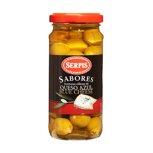 Serpis Green Spanish Olives Stuffed with Blue Cheese, 8.3 oz (235 g)