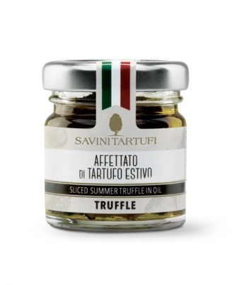 Savini Tartufi Sliced Summer Truffle in Oil, 3.2 oz (90 g)