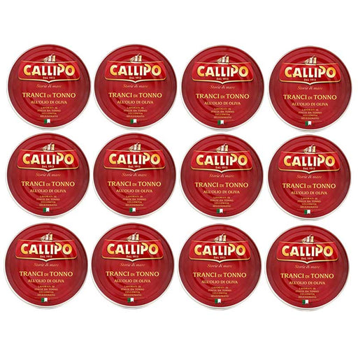 FREE Shipping 12-Can Large Callipo Yellowfin Tuna (5.6 oz x 12)