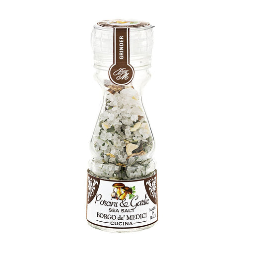 Borgo de Medici Porcini & Garlic Sea Salt in Grinder, 6.3 oz (80 g)