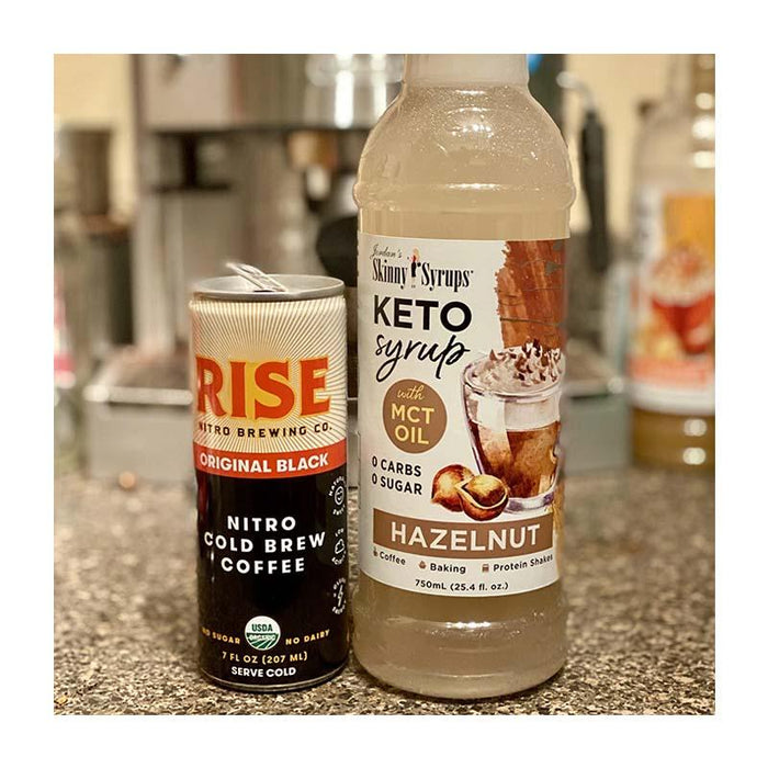 Keto Hazelnut Syrup with MCT by Jordan's Skinny Mixes, 25.4 fl oz (750 ml)