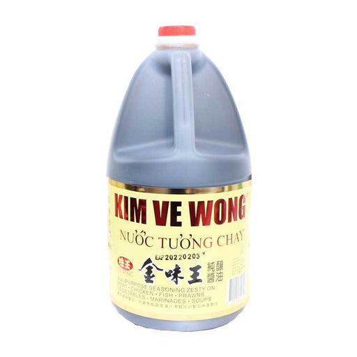 1 Gal Kim Ve Wong Soy Sauce, Naturally Fermented, 128 fl oz