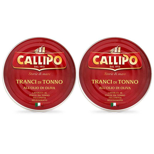 2-Can Large Callipo Solid Light Yellowfin Tuna in Olive Oil, 5.6 oz x 2