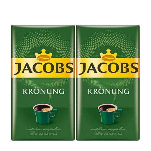 2 Pack Jacobs, 17.6 oz, Kronung Ground Coffee, (500g)