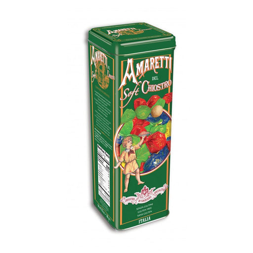 Chiostro di Saronno Soft Amaretti Cookies in Tower Tin, 6.3 oz (180 g)
