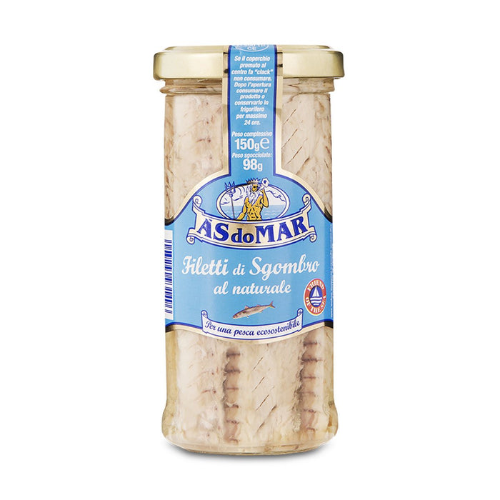 AS do Mar Mackerel Fillets in Water, 5.29 oz (150 g)