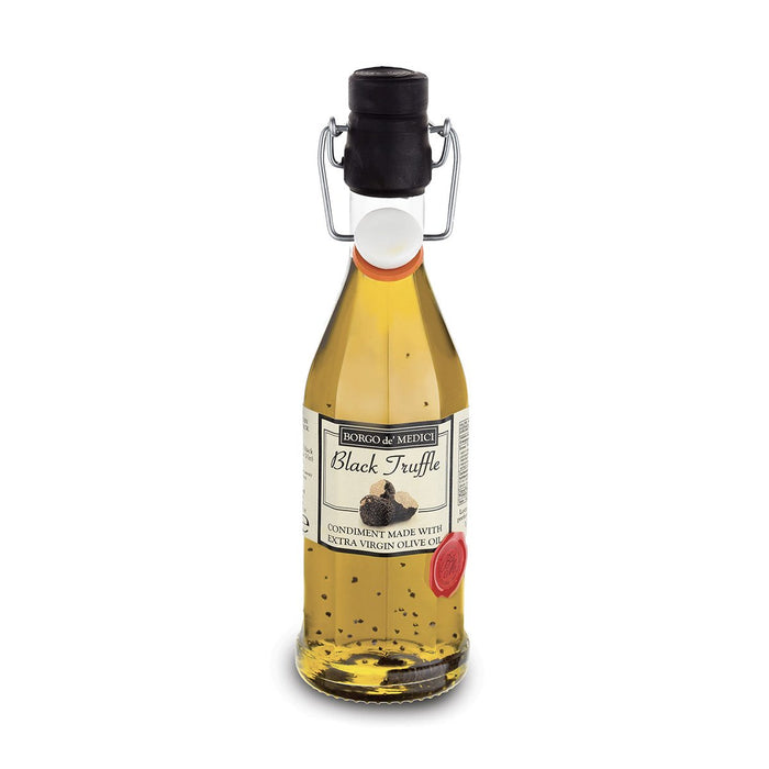 Borgo de Medici Extra Virgin Olive Oil with Black Truffles, 8.5 fl oz (250 ml)