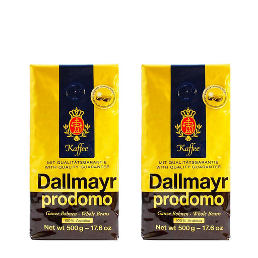 2 Pack Dallmayr Prodomo Whole Bean Coffee, 17.6 oz (500 g)