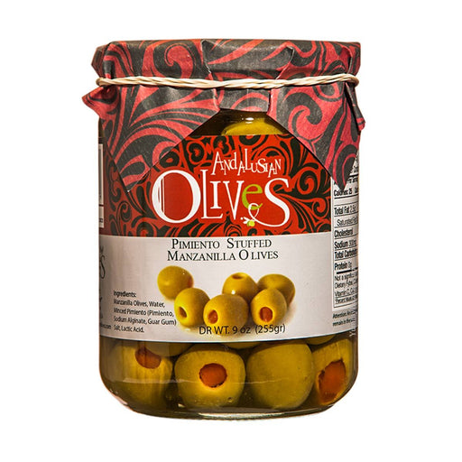 Andalusian Olives Manzanilla Olives Stuffed with Peppers, 9 oz (255 g)