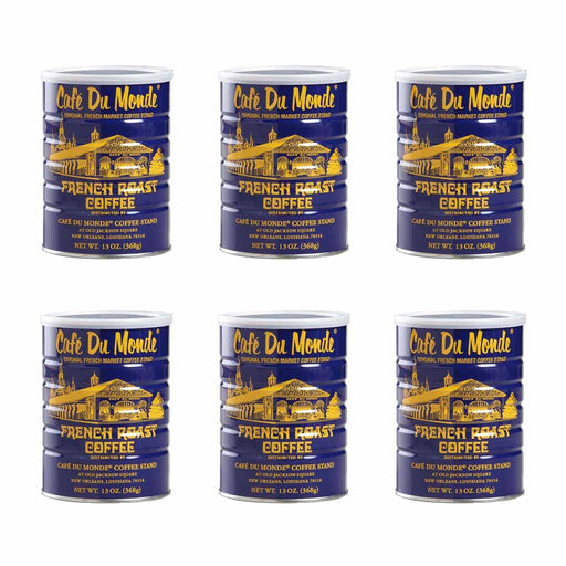 6 Pack Cafe Du Monde French Roast Coffee, 13 oz (368 g)