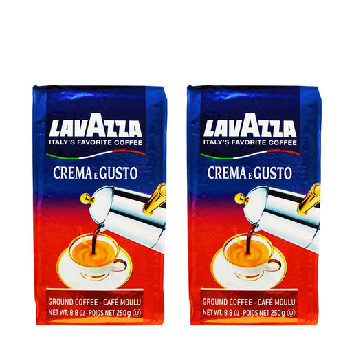 Lavazza Crema E Gusto Ground Coffee 8.8 oz. (250 g) (PACK OF 2)