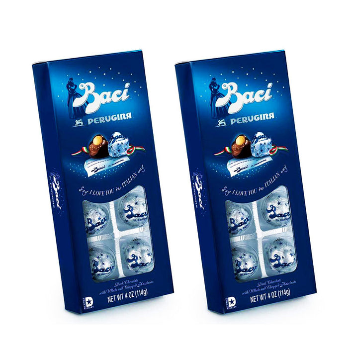 Baci Perugina Classic Dark Vista 8-Piece Box, 2 Pack