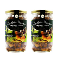 2-Pack Concept Fruits Whole Roasted Chestnuts in Jar-Large 14.8 oz x2